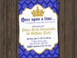 Prince 1st Birthday Invitations Prince Birthday Invitation First Birthday Invitations