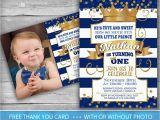 Prince 1st Birthday Invitations Prince Invitation Little Prince First Birthday Number One