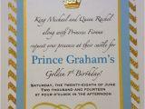 Prince 1st Birthday Invitations Prince theme Birthday Invitation