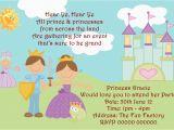 Prince and Princess Birthday Party Invitations Prince theme Birthday Invitation