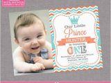 Prince First Birthday Invitations Little Prince Birthday Invitation Boy 1st First Birthday