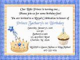 Prince First Birthday Invitations Prince Birthday Party Invitations Prince 1st Birthday
