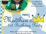 Prince First Birthday Invitations Prince theme Birthday Invitation