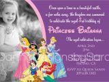 Princess 1st Birthday Invitation Wording Disney Princess 1st Birthday Invitations