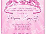 Princess 1st Birthday Invitation Wording Free Printable Princess Birthday Invitation Templates