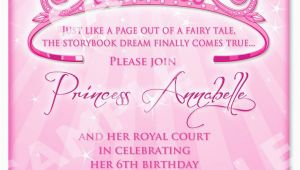 Princess 1st Birthday Invitation Wording Free Printable Princess Birthday Invitation Templates