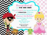 Princess and Pirate Birthday Party Invitations Create Pirate Party Invitations with Your Kid and Have Fun