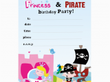 Princess and Pirate Birthday Party Invitations Paper Gekko Personalised Children 39 S Party Packs