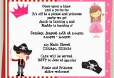 Princess and Pirate Birthday Party Invitations Princess and Pirate Birthday Party Invitations Drevio