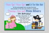 Princess and Pirate Birthday Party Invitations Princess Pirate Birthday Invitation Princess and Pirate Party