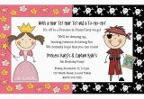 Princess and Pirate Birthday Party Invitations Princess Pirate Party Invitations