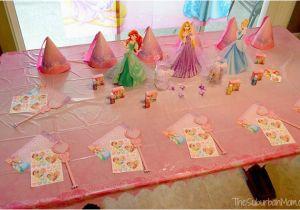 Princess Birthday Party Table Decorations A Dream Come True Disney Thesuburbanmom