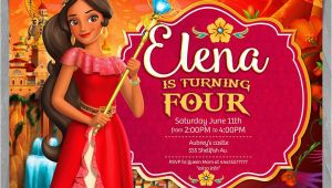 Princess Elena Birthday Invitations Elena Of Avalor Invitation Disney Princess Elena Invite