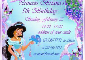 Princess Jasmine Birthday Party Invitations Invitation Ideas