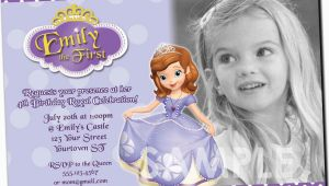 Princess sofia Birthday Party Invitations Princess sofia Birthday Invitations Ideas Bagvania Free
