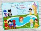 Princess Superhero Birthday Party Invitations Princess Superhero Party Invitations Home Party Ideas