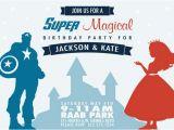 Princess Superhero Birthday Party Invitations Superhero and Princess Birthday Party Invitation by