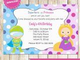 Princess Superhero Birthday Party Invitations Superhero and Princess Invitation Super Heroes Printable