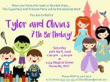 Princess Superhero Birthday Party Invitations Superhero Princess Party Invitation Encore Kids Parties