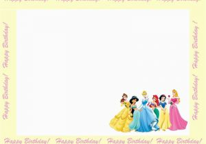 Princess Themed Birthday Invitation Cards Disney Princesses Invitations