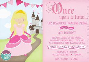 Princess Themed Birthday Invitation Cards Party Invitations Printable Invites