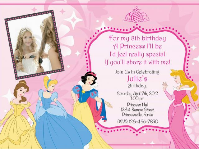 Download By SizeHandphone Tablet Desktop Original Size Back To Princess Themed Birthday Invitation Cards