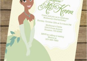 Princess Tiana Birthday Invitations And The Frog Party Printables Omg