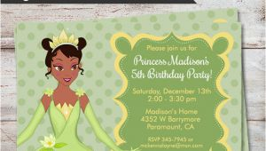 Princess Tiana Birthday Invitations Princess Tiana Birthday Party Invitations Princess and Frog