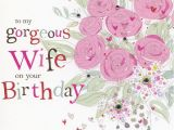 Print A Birthday Card for Wife Hand Finished Wife Birthday Card Karenza Paperie