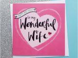 Print A Birthday Card for Wife Handmade Wife Birthday Card Kio Cards