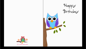 Print A Birthday Card Online Free Printable Cute Owl Birthday Cards