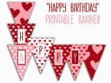Print A Happy Birthday Banner Happy Birthday Banner Birthday Party Printable Sign Red