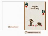 Print Birthday Cards Free Free Printable Woodland Birthday Cards