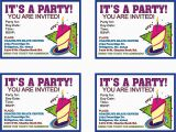 Print Birthday Invitations at Home Free Print Birthday Invitations Print Birthday Invitations