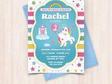Print Birthday Invitations at Home Free Printable Unicorn Birthday Invitations Free Thank You