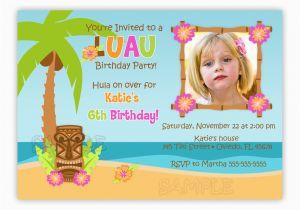 Print Birthday Invitations at Walmart Birthday Invites Luau Birthday Invitations Free Printable