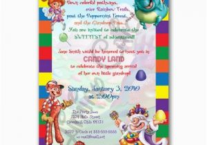 Print Birthday Invitations at Walmart Personalized Candyland Birthday or Shower Invitation