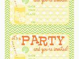 Print Birthday Invitations Free Bnute Productions Free Printable Citrus Splash Invitations