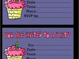Print Birthday Invitations Free Free Printable Birthday Invitation