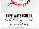Print Free Birthday Cards Free Watercolor Birthday Card Printables Capturing Joy