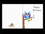 Print Out A Birthday Card Free Printable Cute Owl Birthday Cards