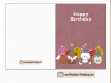 Print Out A Birthday Card Free Printable Woodland Birthday Cards