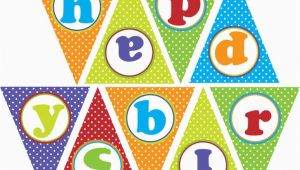 Print Your Own Happy Birthday Banner Happy Birthday Banner Fiesta Print Your Own
