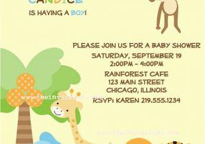 Print Yourself Birthday Invitations Baby Shower Invitation Zoo Baby Jungle Invite Digital