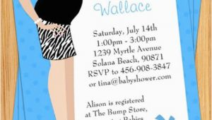 Print Yourself Birthday Invitations Blue Tummy Baby Shower Invitation Print Yourself by