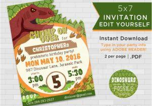 Print Yourself Birthday Invitations Dinosaur Birthday Invitations Dinosaur Invitation
