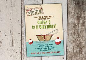 Print Yourself Birthday Invitations Fishing Birthday Invitations Gone Fishing Print Yourself