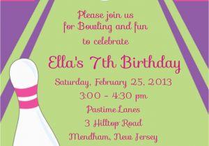 Print Yourself Birthday Invitations Girl Bowling Party Personalized Custom Digital Birthday