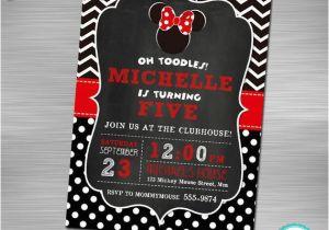 Print Yourself Birthday Invitations Minnie Mouse Invitation Minnie Mouse Printable Invitation
