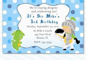 Print Yourself Birthday Invitations Printable Knight Dragon Birthday Party Invitations Polka